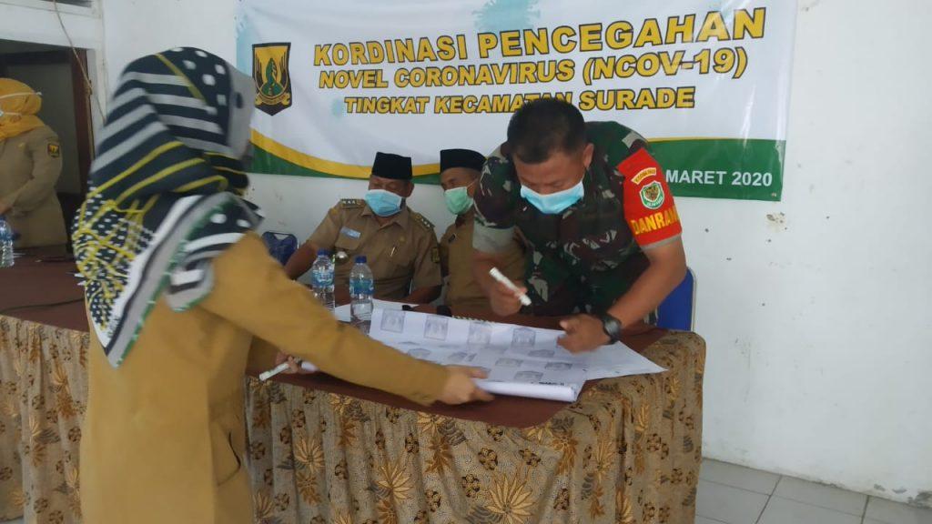 Kordinasi Bersama Muspika Surade & Sosialisasi Hingga Ke Desa-desa demi pencegahan covid-19