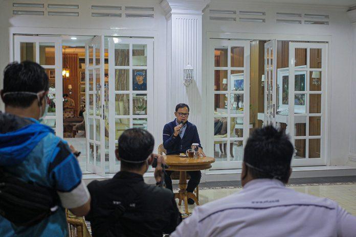 Walikota Bogor Bjma Arya saat Konfrensi Pers - PWI - infokowasi berita sukabumi update