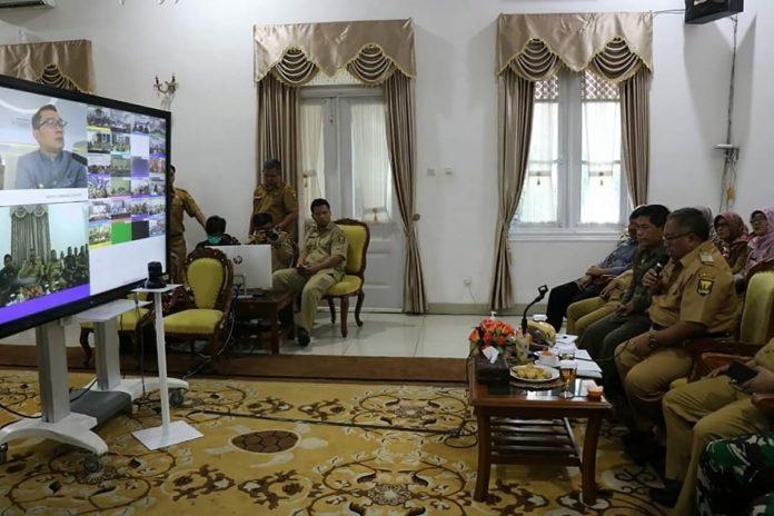 Laksanakan Video Conference Bareng Gubernur, H. Marwan : Tidak Ada Positif Corona Di Sukabumi