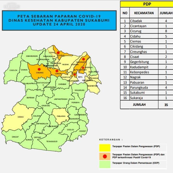 Info Terbaru (24/04/2020) Data Covid-19 Kabupaten Sukabumi : Bersama Kita Jaga Sehat