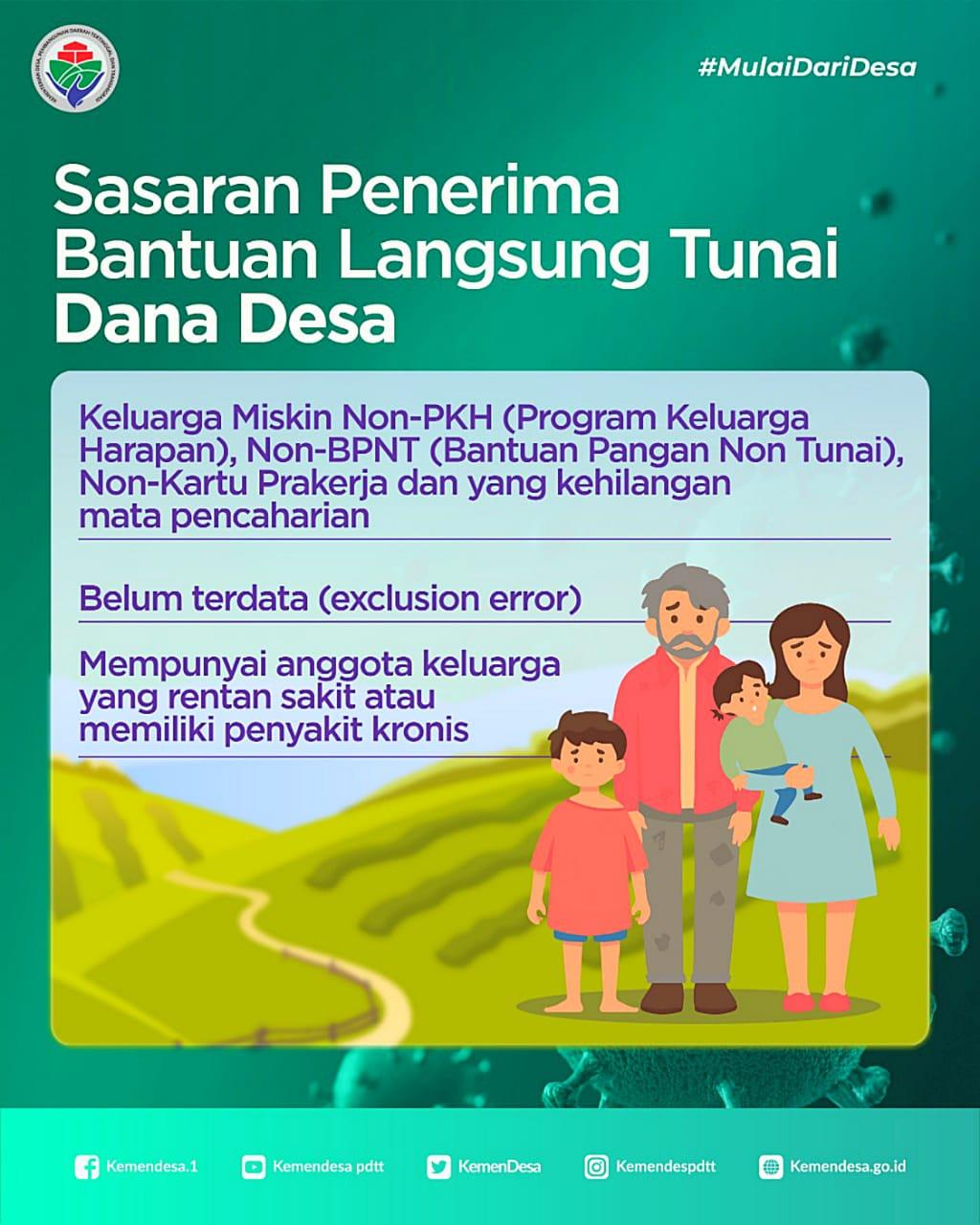 Bantuan Langsung Tunai BLT Dana Desa Sasaran Penerima Perhitungan dan Besaran - infokowasi
