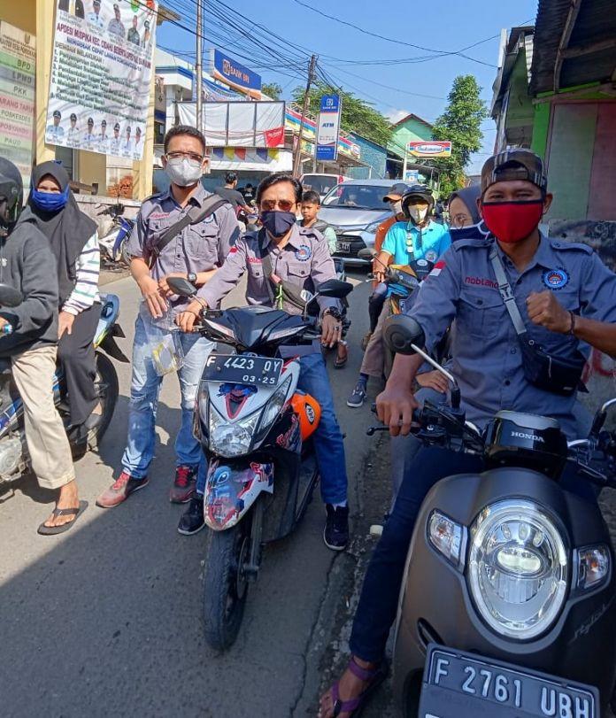 Serikat Buruh CDB Bagikan Ribuan Masker Gratis Terhadap Masyarakat