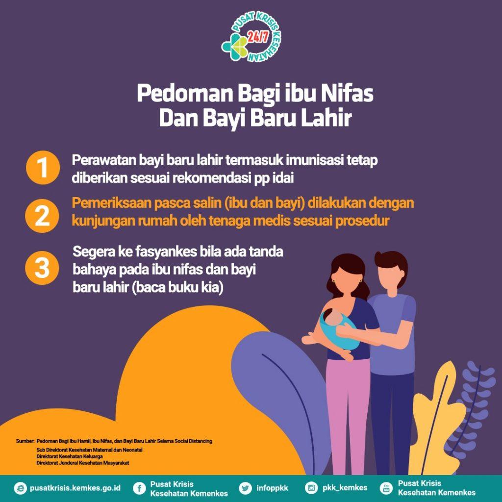 Pedoman untuk Ibu Bersalin dan Bayi Baru Lahir di Tengah Pandemi COVID-19