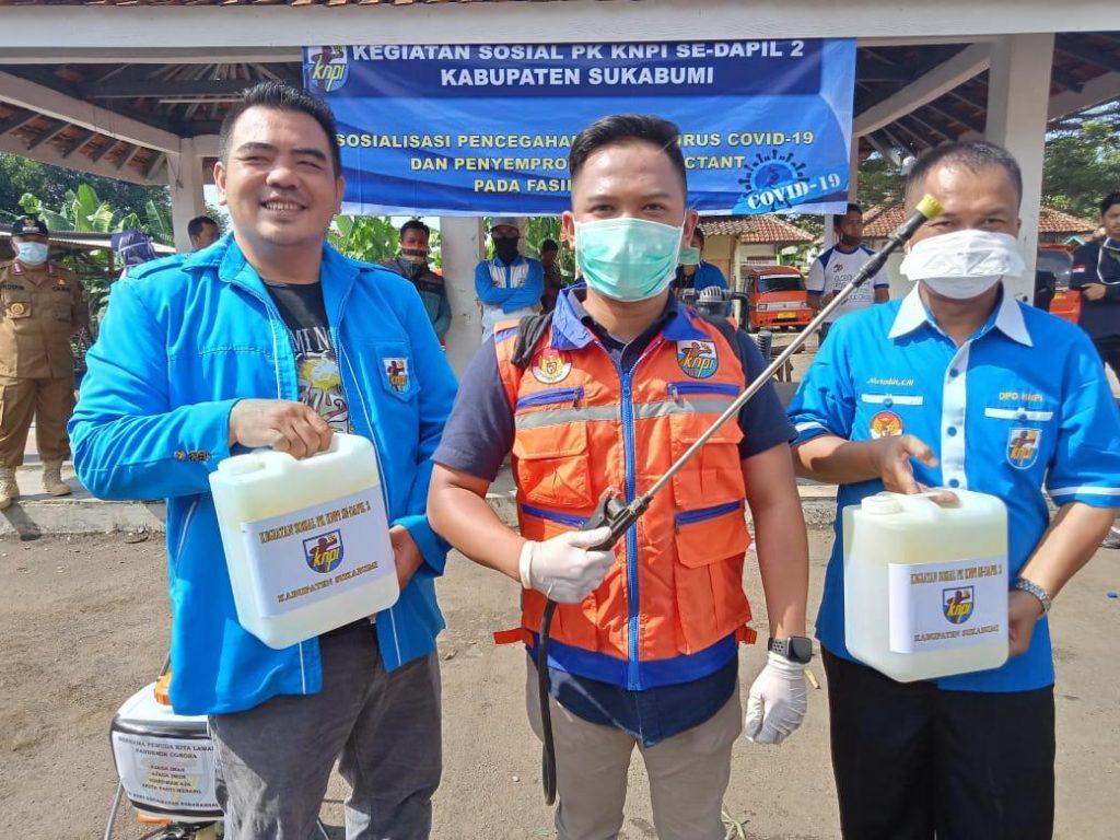 DPD PK KNPI DAPIL 2 Inspirasikan Upaya Penyemprotan Disinfektan COVID-19