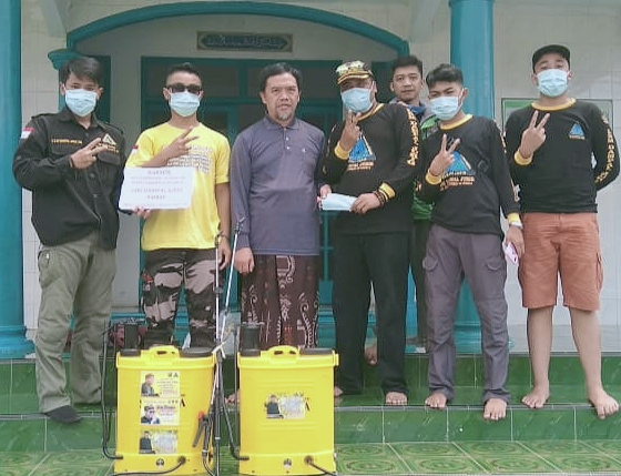 Dengan Hasil Swadaya Iuran Anggota, Tak Surut Bagi Lsm Dampal Jurig LawanCOVID-19