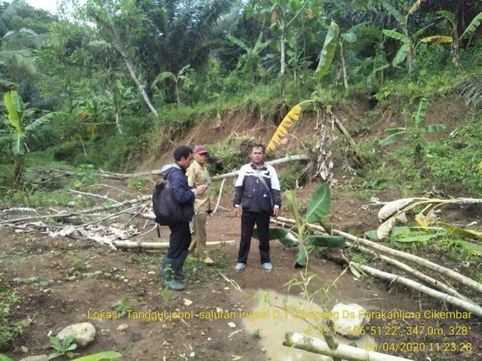 Irigasi Cibagong & Muara Cibodas Dua Saluran Kewenangan di Cikembar Tertutup Longsor