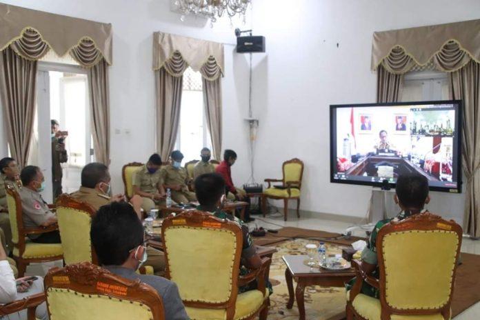 Video Conference Dengan Mendagri, Bupati Sukabumi Sepakat Putus Matarantai Covid-19