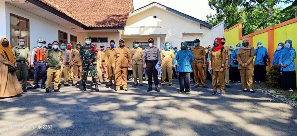 Pemcam Jampangkulon, 2.000 Masker di Gratiskan Bantu Masyarakat
