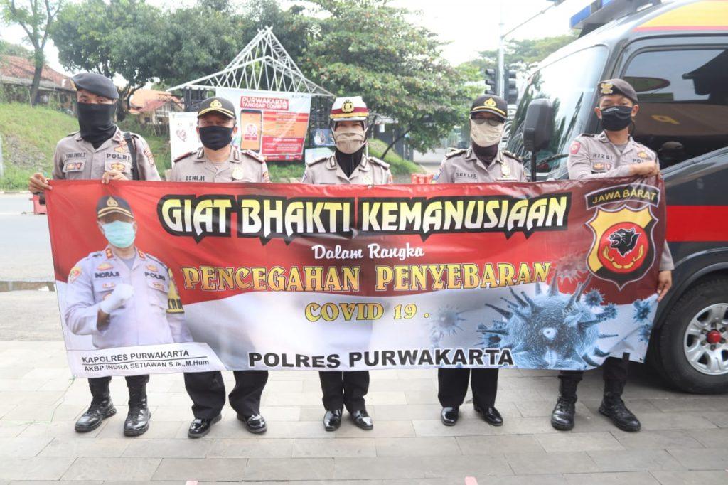 Polres Purwakarta Bersama TNI Gandeng Gugus Tugas COVID-19 Dirikan Posko Bantuan