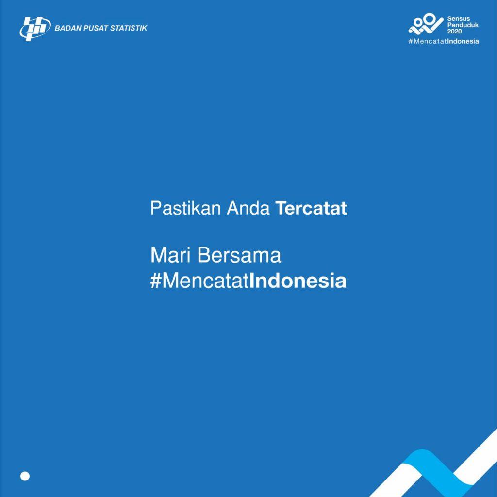 Ketahuilah bahwa #AndaBerarti. Data yang disampaikan sangat diperlukan untuk pembangunan Indonesia yang lebih baik di masa yang akan datang. Mari bersama #MencatatIndonesia