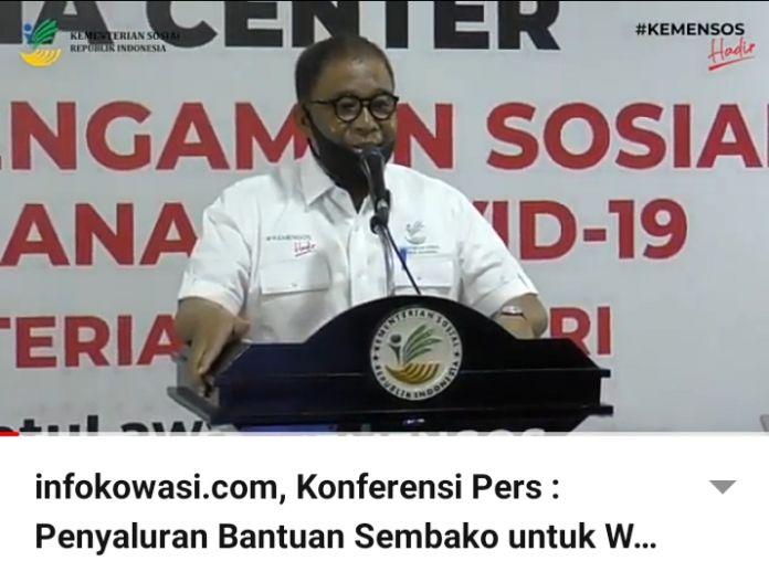 Senin Depan Kemensos Salurkan Bansos Sembako Presiden Sejabodetabek