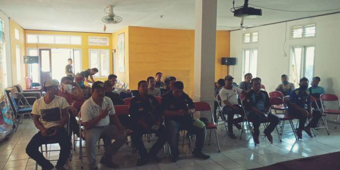 Gabungan Para Relawan Surade, Buat Skema Cara Cepat Pencegahan Covid-19