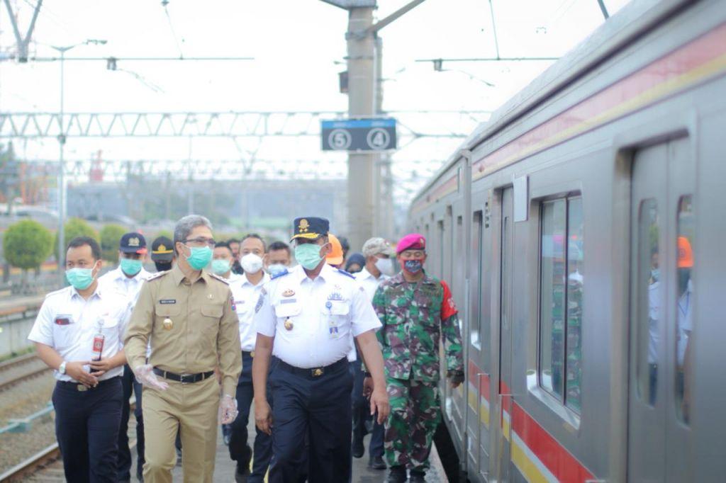Pemkot Bogor dan BPTJ Pantau PSBB di Stasiun Bogor