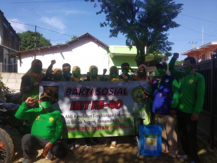 Milad Ke-40, (HAKLI) Cabang Kab Sukabumi di Dapil-6. Lakukan Pembagian Masker, Baksos dan Aksi Penyemprotan Mandiri