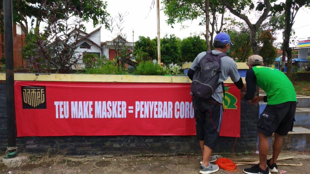 Komunitas Jampang Peduli, Kampanyekan Penggunaan Masker