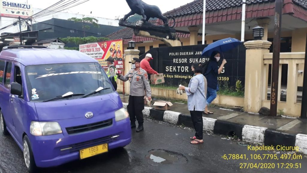 Berbagi Ta'jil Polsek Cicurug dan Polres Sukabumi, OPS AMAN NUSA ll LODAYA