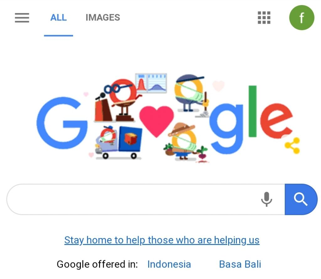 Thank You Coronavirus Helper Dijadikan Doodle Google